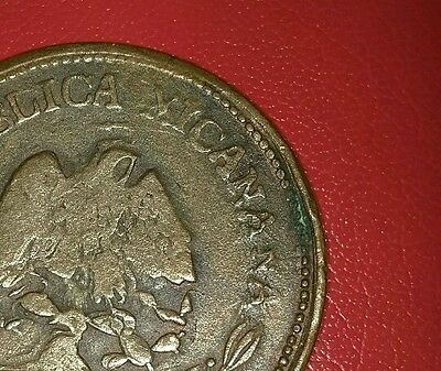 Mexico Error Coin 1915 50 Centavos Micanana Instead Mexicana Double Head Eagle