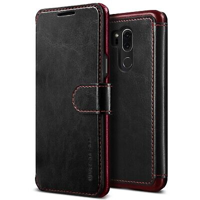 LG G7 ThinQ Wallet Case Shockproof Leather Card Slots Magnetic Close Cover Black