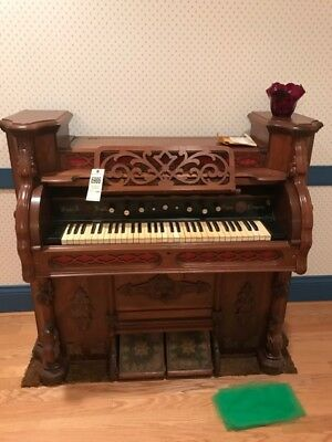 REDUCED Mason and Hamlin Style 208 Reed Organ, ca. 1876, electric blower