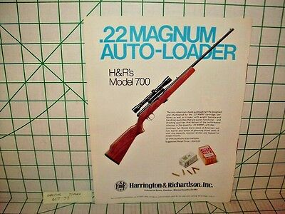 Harrington & Richardson .22 Magnum Printed Ad From Shooting Times Oct '77