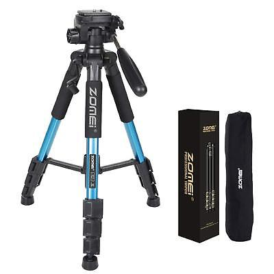 "ZOMEI 55"" Lightweight Compact Travel Portable Camera Tripod for Canon Nikon Blue"