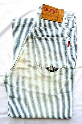 Jeans Vintage UNLIMITED LTD -W30- L34 - Made in Italy 80s - anni '80