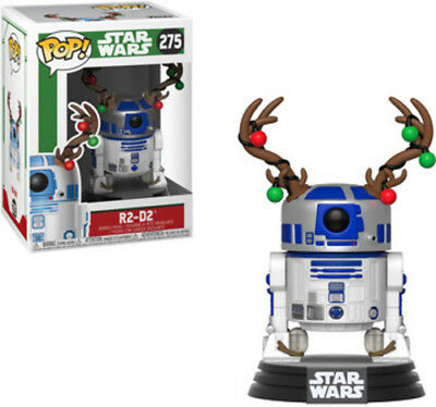 Holiday - R2d2 W/Antlers - Funko Pop! Star Wars: (2018, Toy NEUF)