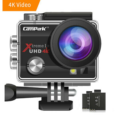 Campark Sports Cam 4K 16MP WiFi FHD Waterproof Cam 30M Underwater Action Camera