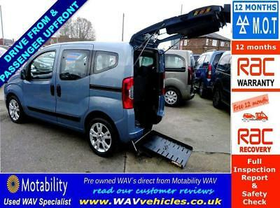 2012 Fiat Qubo Mylife 1.3D Dualogic 5D Auto Sirus Switch Drive From Wheelchair
