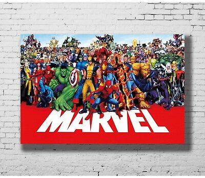 24x36 14x21 Poster marvel line up 2015 Super Heroes Universe Art P-4466