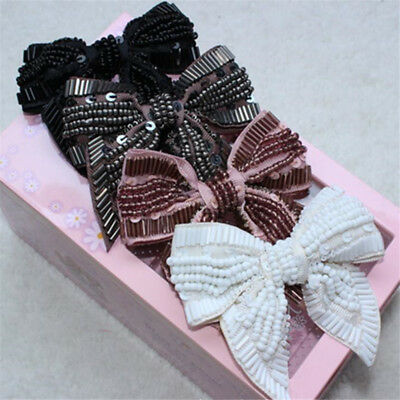 Vintage Style Tone Rhinestone Crystal Bow-knot  Shoes Clips Valentine Day Gift