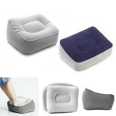 Plane Train Travel Inflatable Foot Rest Portable Pad Footrest Pillow Kids Bed JW