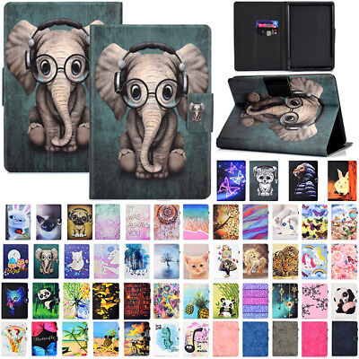 For New Kindle Paperwhite 10th Gen 2018 Magnetic Painted Flip Leather Case Cover