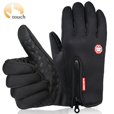 Touch Screen Gloves for Men, Cold Weather Windproof Thermal Glove for Smartphone