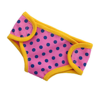 Baoblaze Lovely Dotted Diapers for AG American Doll 18inch Doll Dress Up Accs