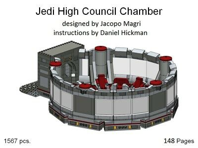 *custom* Lego Star Wars Jedi High Council Chamber - instruction manual only