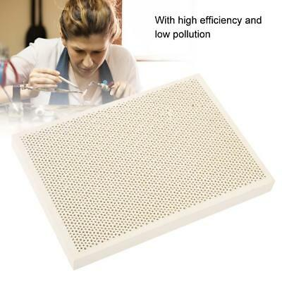 Ceramic Honeycomb Block Soldering Plate with Holes Jewelry Heat Board Tool New