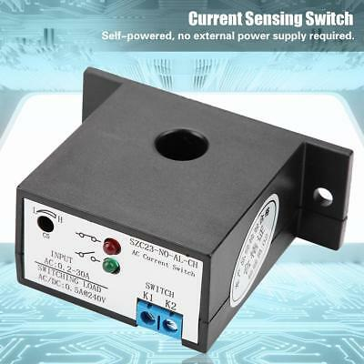Normally Open Current Sensing Switch Adjustable 0.2-30A SZC23-NO-AL-CH w/LED xi