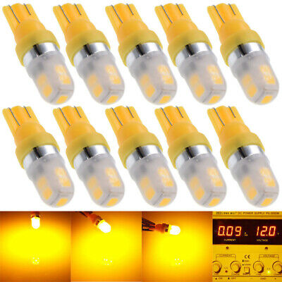 10Pcs T10 158 194 168 W5W 2835 9 SMD LED Car Light Bulb Lamp super Amber Yellow