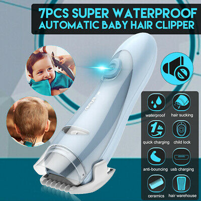 Rechargeable Electric Quiet Safe Baby Kid Hair Clipper Trimmer Safe Professional