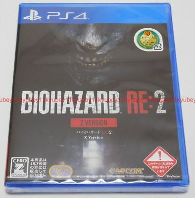 New PS4 Resident Evil BIOHAZARD RE:2 Z Version Japan PLJM-16287 4976219098410