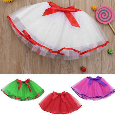 Cute High Quality Baby Girls Kid Kids Solid Tutu Ballet Skirts Fancy Daily Skirt