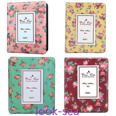 HOT Photo Album Fit FujiFilm Instax Mini Polaroid Camera 7s/8/90 Film 64 Pockets