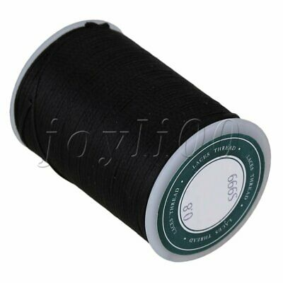 0.8mm Polyester Flat Sewing Waxed Linen Cord Handwork Waxed Thread for Leather