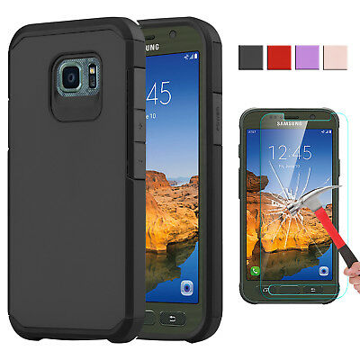 For Samsung Galaxy S7 Active Phone Case [Armor Series] Hybrid + Screen Protector