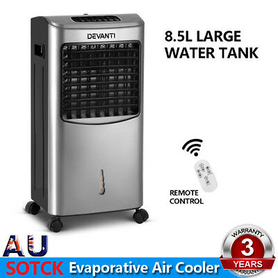 Devanti Portable Evaporative Air Cooler Fan Conditioner Cool Fan Touch Remote