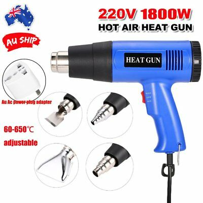 Electric Heat Gun 1800W Temperature Adjustable Hot Air Heating Power Tool 220V