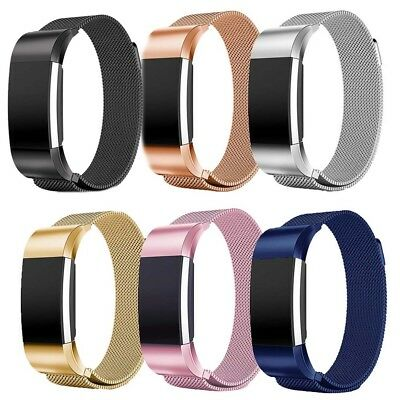 For Fitbit Charge2 Strap Replacement Milanese Band Metal Stainless Steel Magnet△