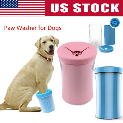 Portable Pet Paw Plunger Mud Cleaner Washer Mudbuster Dog Cat Pets Paw Clean Cup