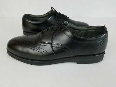 Red Wing Black Leather Brogue Wingtip Shoes Mens Size 10 5 Eee
