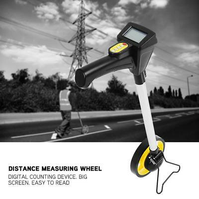 Foldable Digital Distance Measuting Wheel With Stand Surverors Workers Road Land