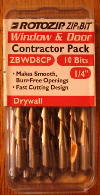 Rotozip 1/4 in Window & Door Cutting Bits 10 Pack ZBWD8CP Contractor Pack