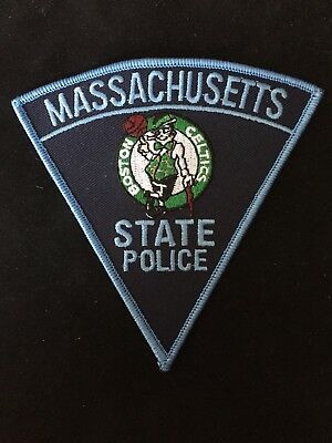 Massachusetts State Police Boston Celtics Patch Ma Mass