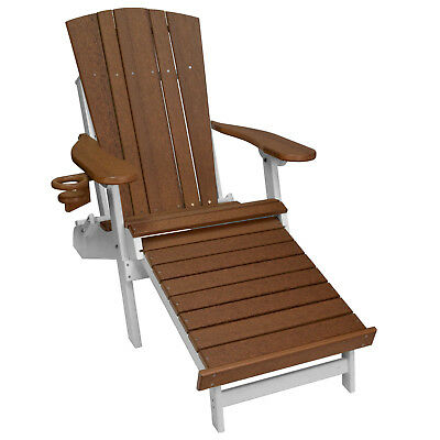 New Harbor Collection Adirondack Chair with Integrated Footrest