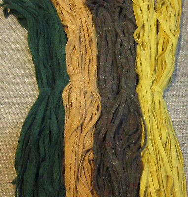 #6 Sunflowers Mix  200 Wool Strips for Primitive Rug Hooking