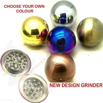 2 PART 50mm BALL METAL HERB GRINDER  Shark Teeth By sky online