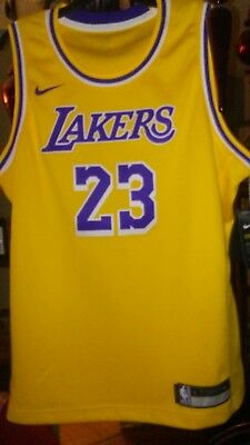 448b2afa52a Nike LeBron James Los Angeles Lakers Swingman Jersey Youth L Gold LBJ  23  LAL