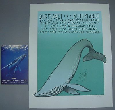 Jay Ryan Blue Planet Whale England Tour Poster Print Program Signed Numbered BBC