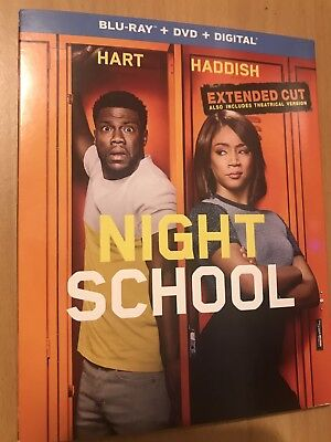 Night School Blu-Ray(Dvd)Digital Extended Cut|Kevin Hart|Ships 1/1/19 Brand New