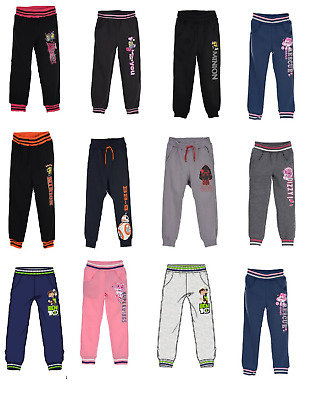 Boys &Girls Kids character Jogging Tracksuit Bottoms Trousers Age 2-12