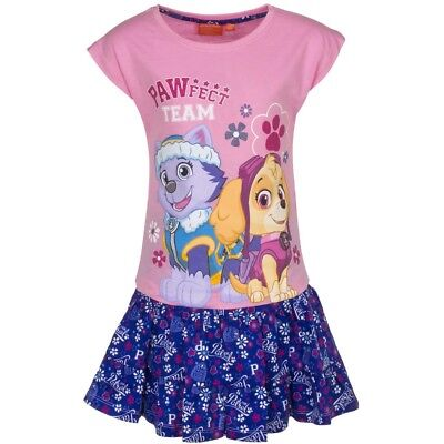 Paw Patrol Girls Tshirt And Skirt Set Light Pink/Blue Age 6 Years