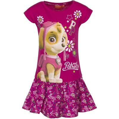 Paw Patrol Girls Tshirt And Skirt Set Dark Pink Age 3 Years