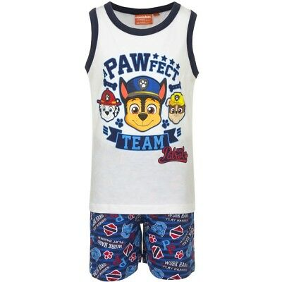 Boys Paw Patrol Pups at Play Cotton T-Shirt /& Shorts Set Sizes from 12 Months to 6 Years