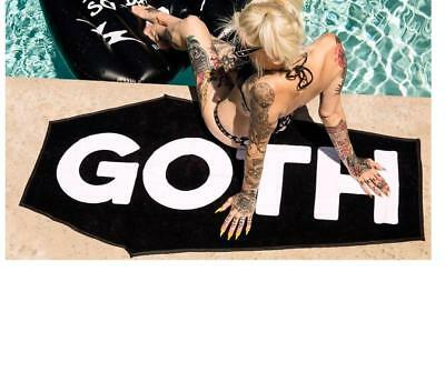 BLACKCRAFT COFFIN BEACH TOWEL GOTH 31x62 NEW IN PACKAGE