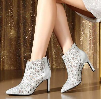 Women Spring Autumn New Rhinestones Pointed Stilettos Deep Mouth Single Shoe Hot