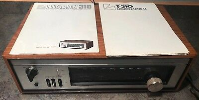 RARE LUXMAN T-310U TUNER HIGH END IN WOODEN CABINET Excellent Cosmetic W/manuals
