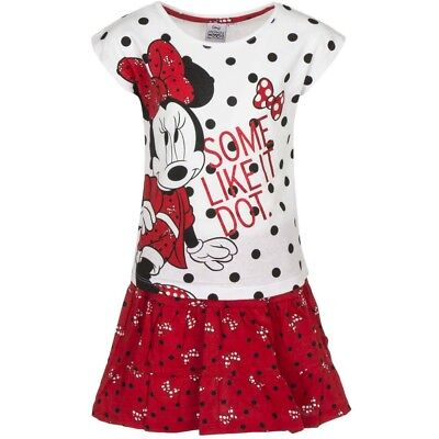 Minnie Mouse Tshirt And Skirt Set Girls BNWT Age 8 Years White/Red