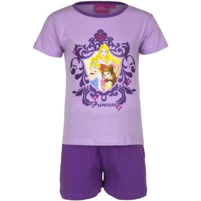 Girls Children Princess Shorts And Tshirt BNWT Purple Age 6 Years