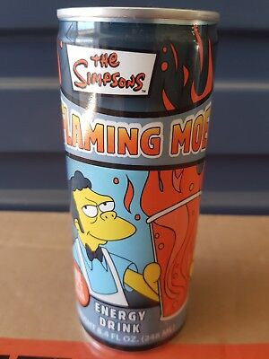 Universal Studios The SIMPSONS FLAMING MOES ENERGY DRINK [VHTF] UNOPENED.  250ML