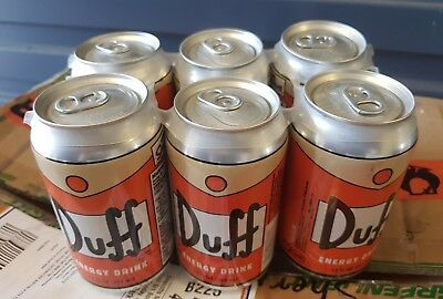 Universal Studios The SIMPSONS - DUFF BEER 6PACK ENERGY DRINK [VHTF] UNOPENED